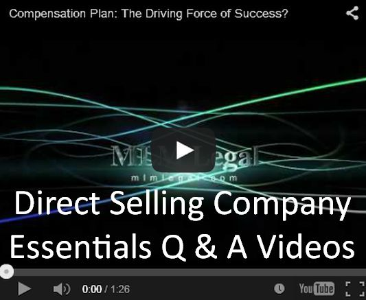 MLM, Network Marketing, Direct Selling: Company Essentials Q & A Videos